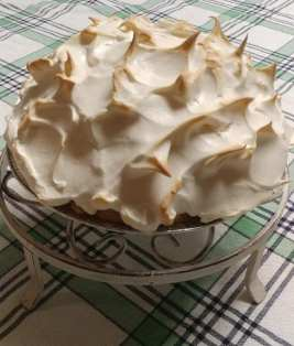 butterscotch with brown sugar meringue